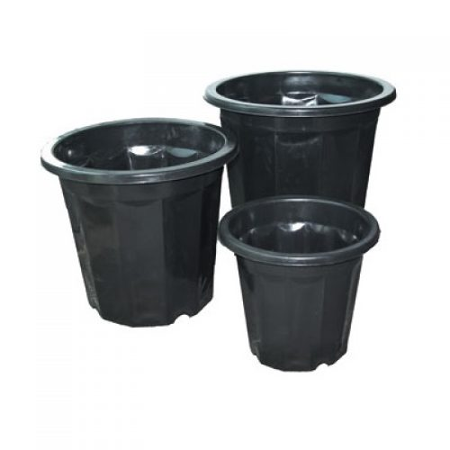 Black Plastic Planter
