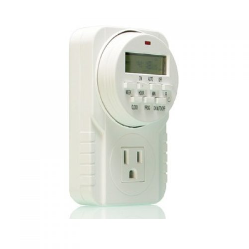 Single Outlet Digital 7-Day Timer